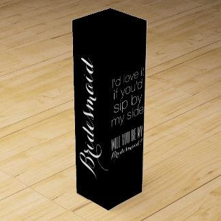 Will you be my bridesmaid bridesmaids gift box wine box