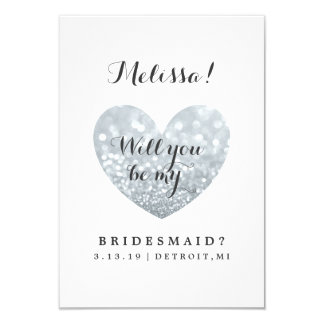Will You Be My Bridesmaid Card - Glitter Fab