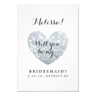 Will You Be My Bridesmaid Card - Glitter Fab 9 Cm X 13 Cm Invitation Card