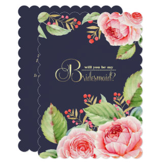 Will you be my Bridesmaid? Custom Invitations