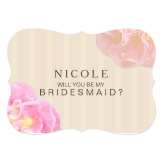 Will You be my Bridesmaid Custom Invite Nicole