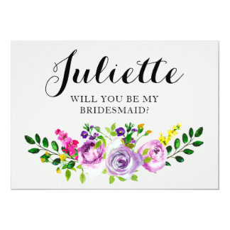 Will You Be My Bridesmaid? Customisable Card 5x7