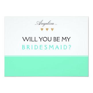 Will You Be My Bridesmaid Invitation