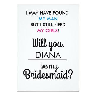 Will You Be My Bridesmaid Invite