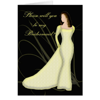 Will you be my bridesmaid Lemmon Lace Card