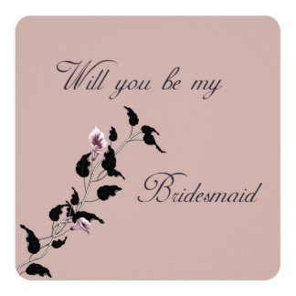 Will You Be My Bridesmaid Pink Invitation
