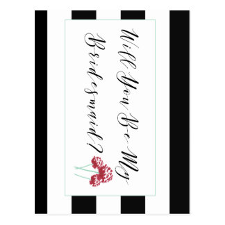 Will You Be My Bridesmaid Proposal Postcard