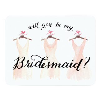 Browse Zazzle Be My Bridemaid invitation templates and customise with your own text, photos or designs.