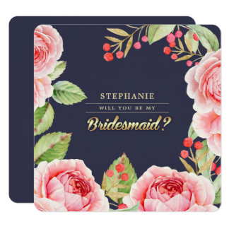 Will you be my Bridesmaid? Watercolor Invitations
