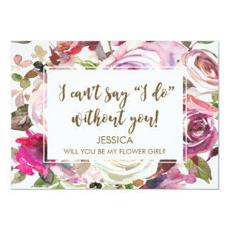 Will you be my flower girl card personalised