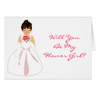 """""""Will You Be My Flower Girl I""""- Customisable Greeting Card"""