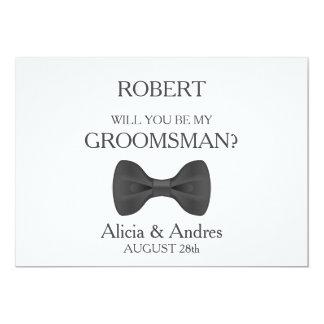 Will you be my Groomsman? 13 Cm X 18 Cm Invitation Card