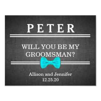 Will you be my Groomsman? Personalized 11 Cm X 14 Cm Invitation Card