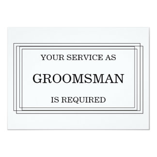 Will you be my Groomsman? Personalized 11 Cm X 16 Cm Invitation Card
