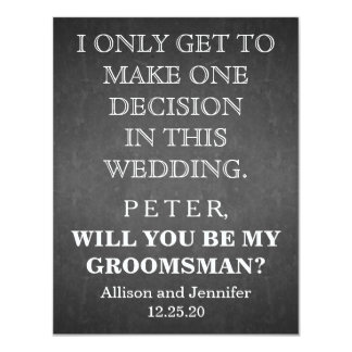 Will you be my Groomsman? Personalized Card