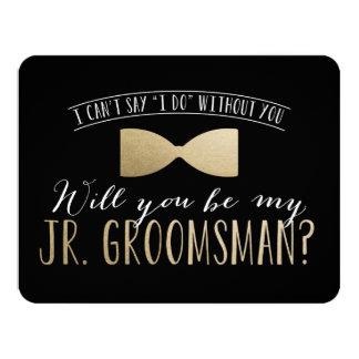 Will you be my Junior Groomsman ? | Groomsmen 11 Cm X 14 Cm Invitation Card