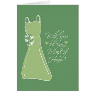 """""""Will you be my Maid of Honor?"""" Card"""