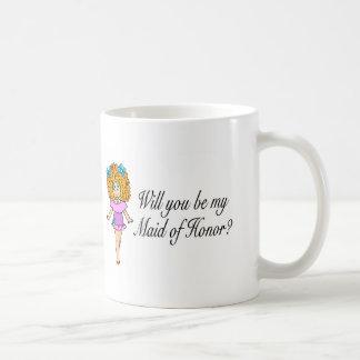 Will You Be My Maid Of Honor (Girl) Coffee Mug
