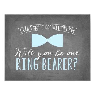 Will you be my Ring Bearer ? | Groomsmen 11 Cm X 14 Cm Invitation Card