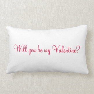 will you be my valentine cushions