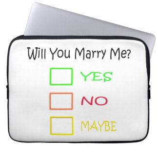 Will You Marry Me by Shirley Taylor Laptop Sleeve