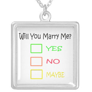 Will You Marry Me by Shirley Taylor Silver Plated Necklace