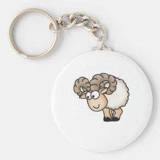 Willi the Ram - Aries - Male Sheep - Mouflon Key Ring