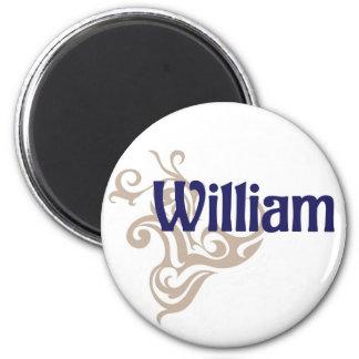 William 6 Cm Round Magnet