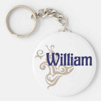 William Basic Round Button Key Ring