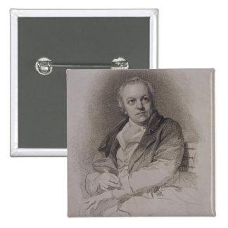 William Blake (1757-1827) engraved by Luigi Schiav 15 Cm Square Badge