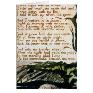 William Blake | A Poison Tree Card