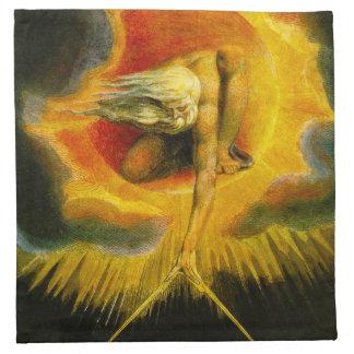 William Blake Ancient of Days Napkins
