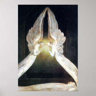 William Blake Christ in the Sepulchre Poster