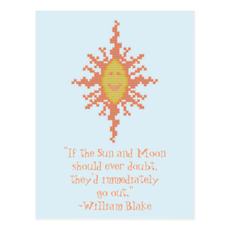 William Blake Sun and Moon Confidence Quote Postcards
