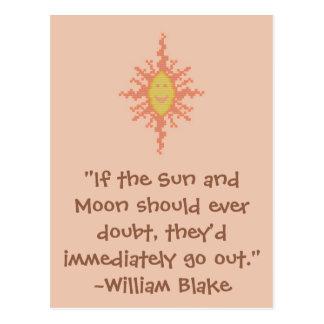 William Blake Sun and Moon Quote Postcard