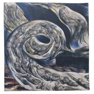 William Blake The Lovers Whirlwind Napkins