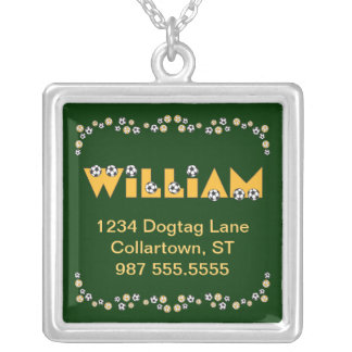 William in Soccer Gold Silver Plated Necklace