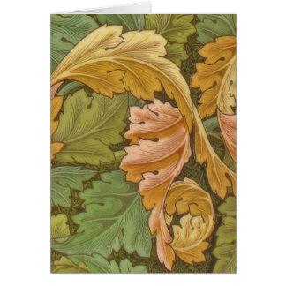 William Morris Acanthus Vintage Floral Card