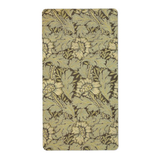 William Morris Anemone Pattern Shipping Label