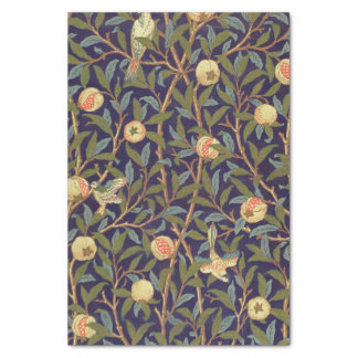 William Morris Bird And Pomegranate Vintage Floral Tissue Paper