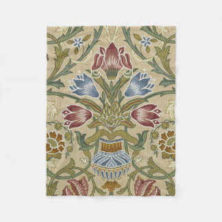 William Morris Brocade Floral Pattern Fleece Blanket