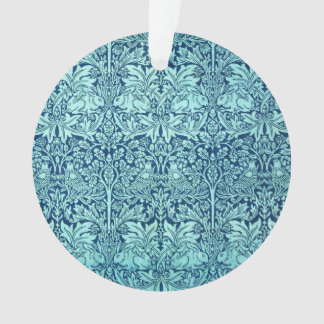 William Morris Brother Rabbit Pattern in Blue Ornament
