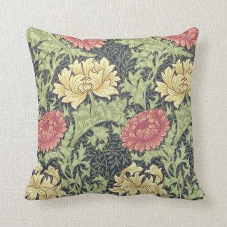 William Morris Chrysanthemum Vintage Floral Art Throw Cushion