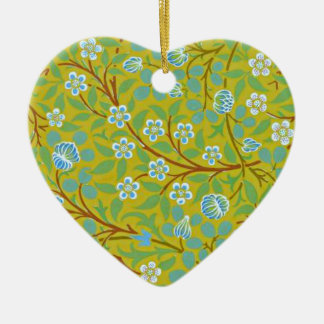William Morris - Clover (yellow and blue) Christmas Ornament