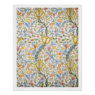 William Morris Flora Vintage Floral Art Nouveau Poster