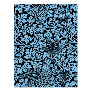 William Morris Floral Pattern Bird Flowers Postcard