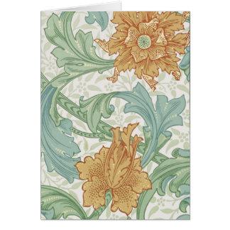 William Morris Floral Pattern Single Stem Card