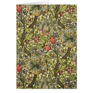 William Morris Golden Lily Pattern Card