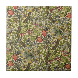 William Morris Golden Lily Small Square Tile