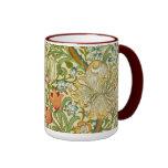 William Morris Golden Lily Vintage Pre-Raphaelite Ringer Mug